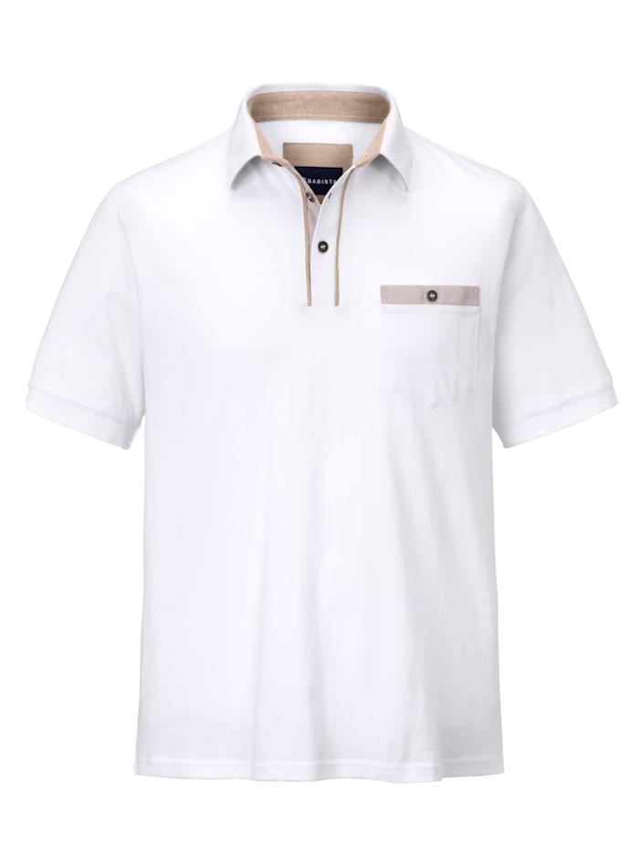 BABISTA Polo à col chemise, Blanc