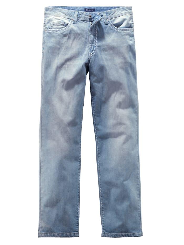 BABISTA Džíny v módním sepraném vzhledu, Svetle modrá