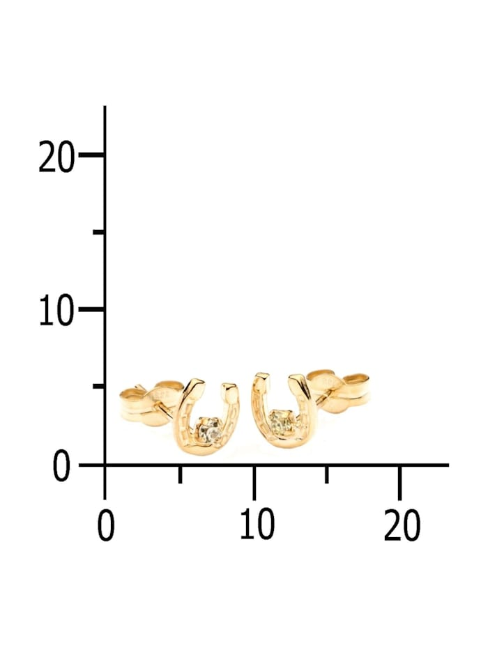 Ohrstecker - Hufeisen - Gold 333/000 -