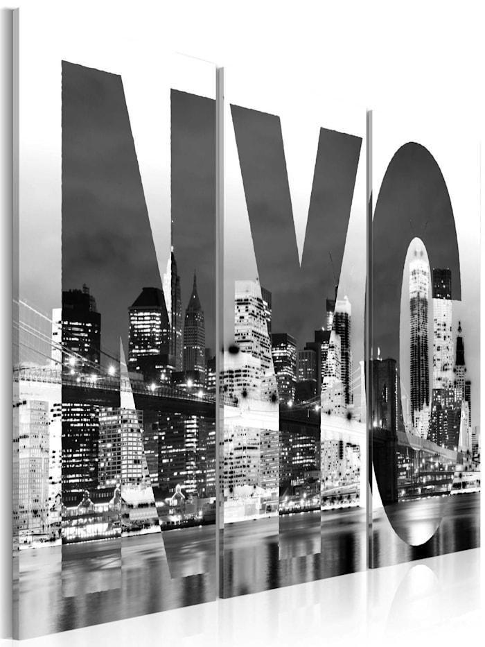 artgeist Wandbild New York (schwarz-weiß), schwarz-weiß