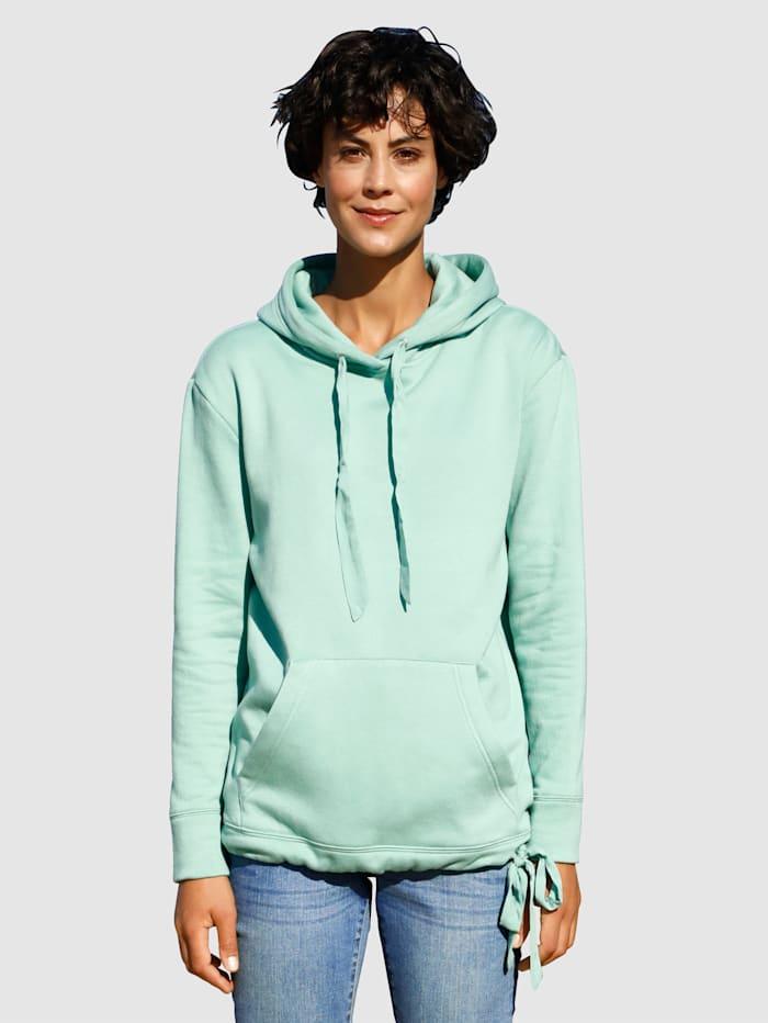 Dress In Sweatshirt van zacht materiaal, Lindegroen