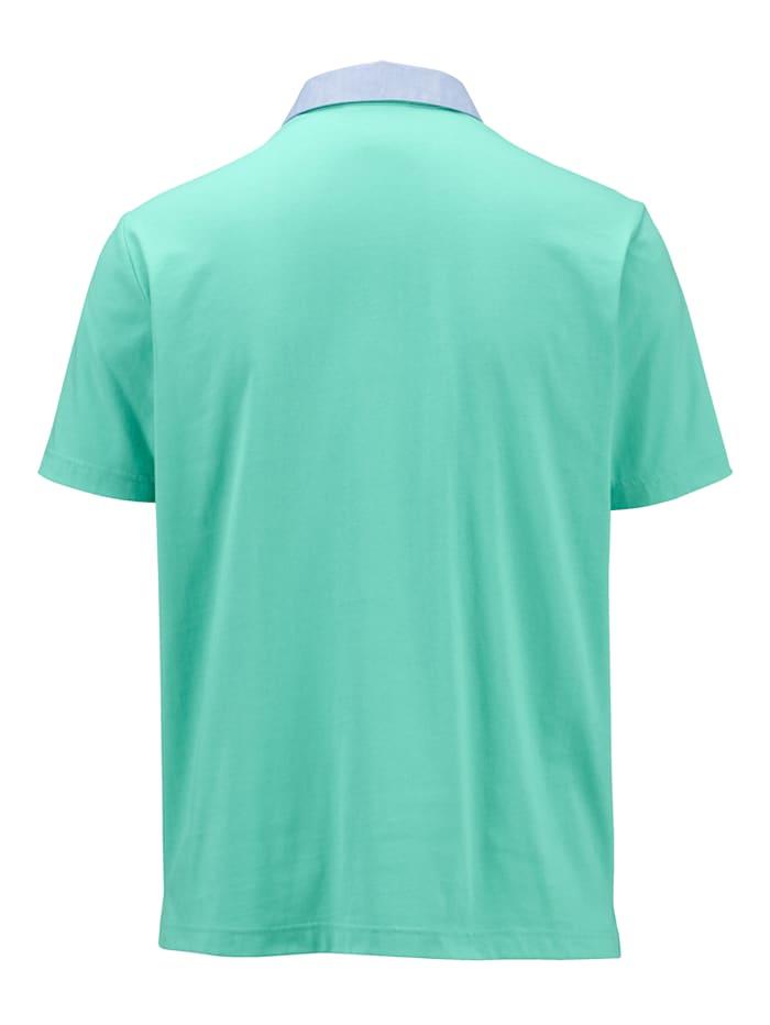 Poloskjorte med chambray-krage