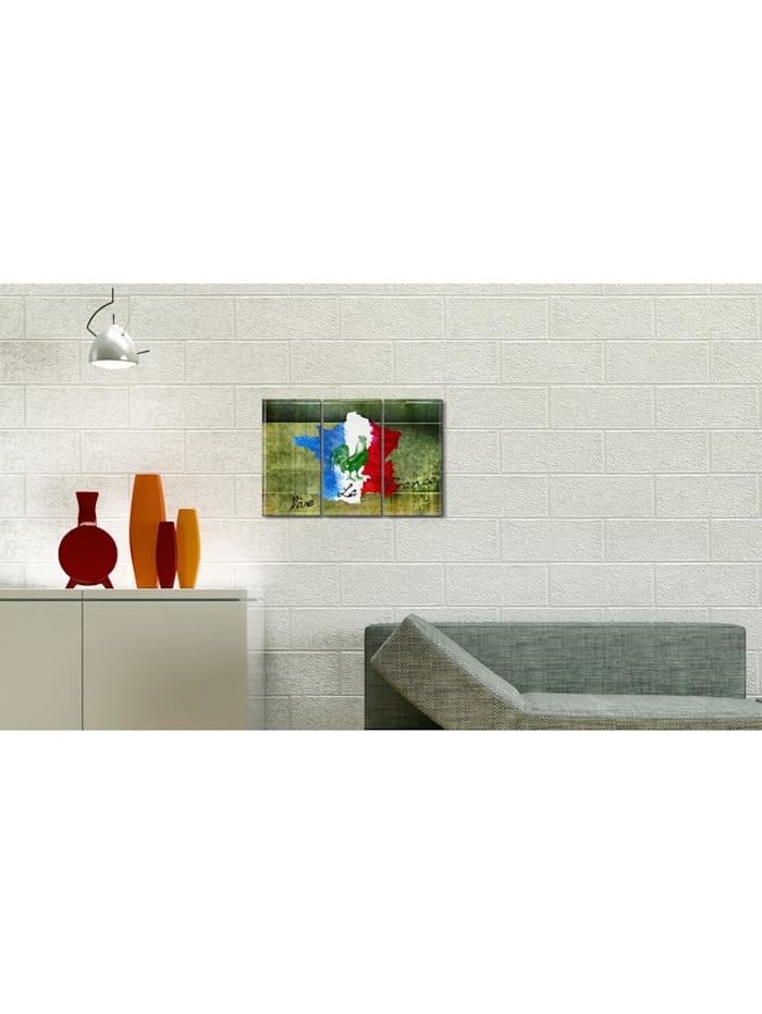 Wandbild Vive la France - Triptychon