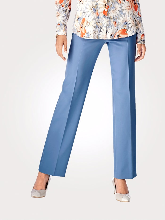 Easy-Care Pull-On Trousers made from luxe Italian fabric