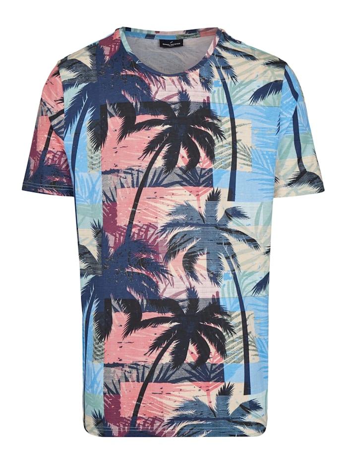 Daniel Hechter T-Shirt mit Palmenprint, orange