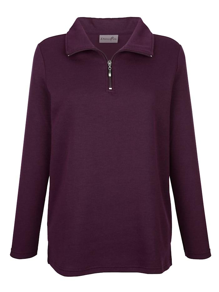 Paola Sweatshirt mit Reißverschluss, Beere