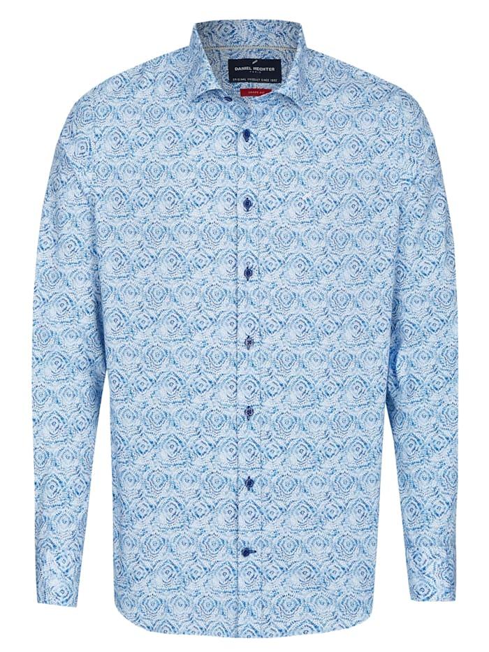 Daniel Hechter Modisches Freizeithemd mit Batik-Muster, cornflower