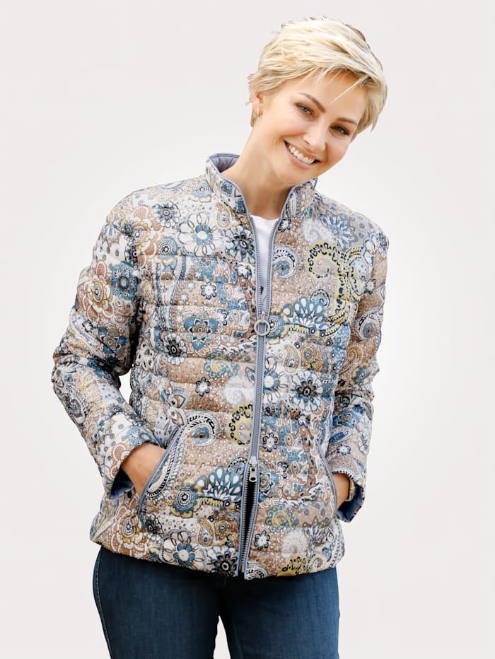 Barbara Lebek Keerbare jas, Blauw/Geel
