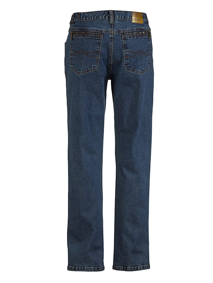 Jeans med komfortresår i sidorna