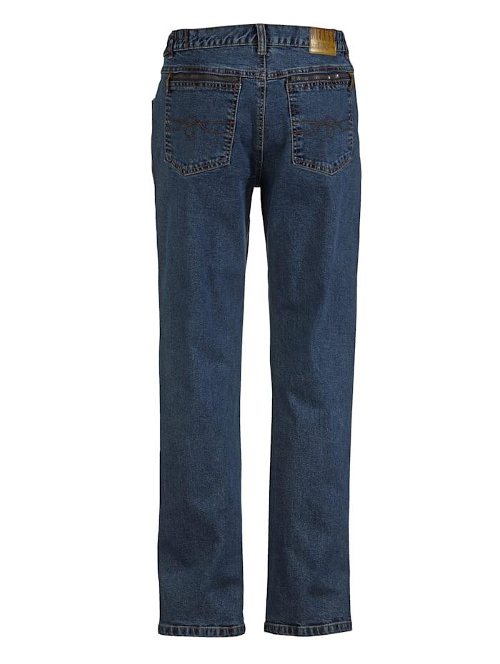 Jeans met elastische bandinzetten opzij