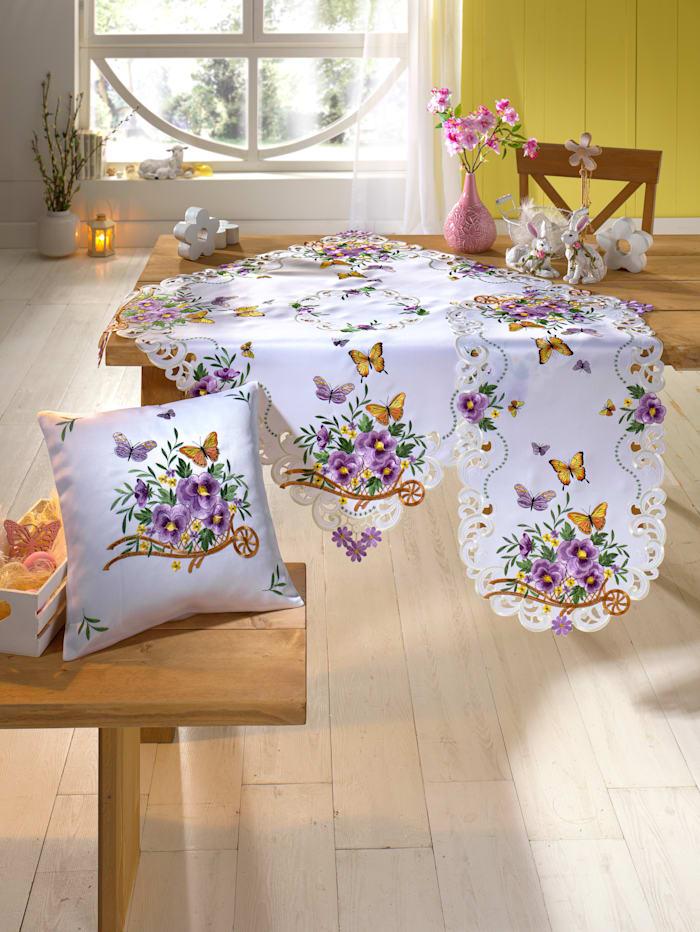 Webschatz Linge de table 'Kira', Blanc/multicolore