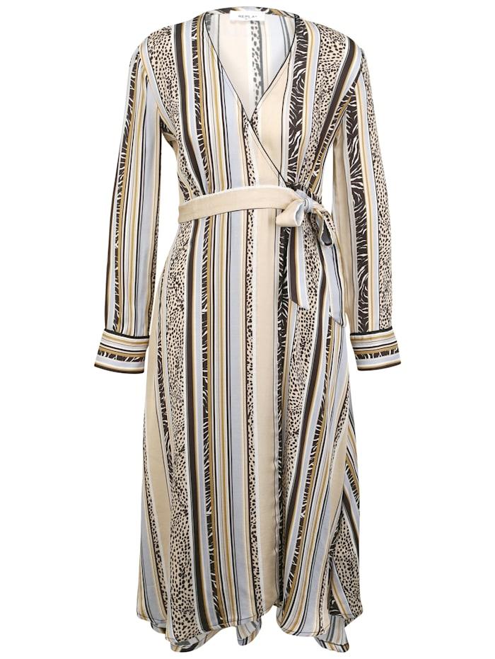 REPLAY Sommerkleid mit Knopf, white