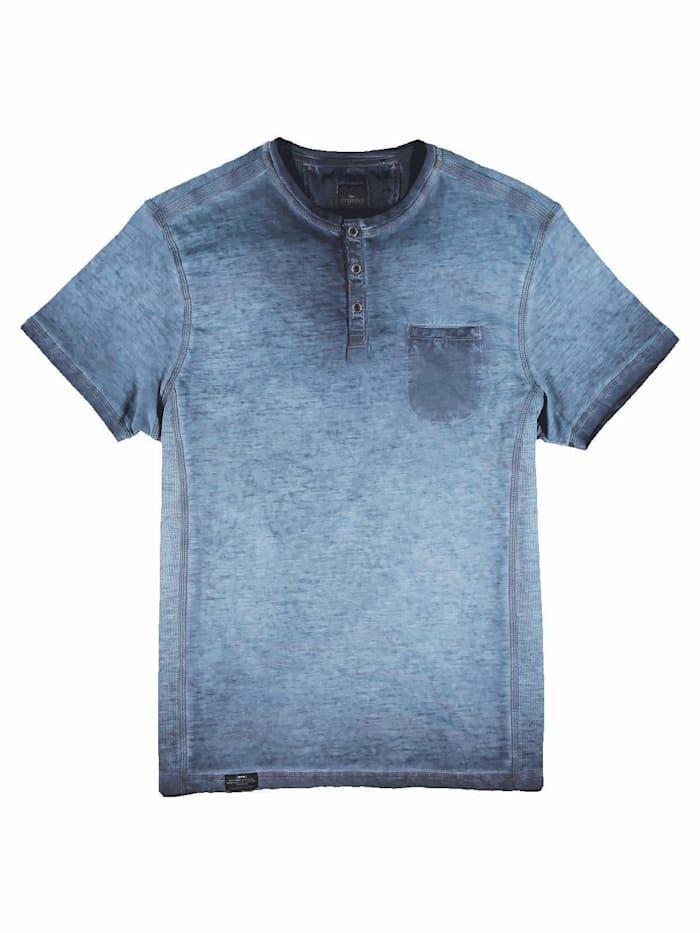 Engbers T-Shirt gemustert, Indigoblau