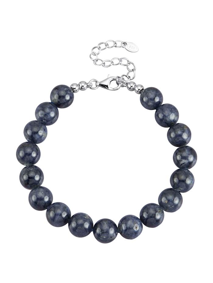 Amara Pierres colorées Bracelet avec saphir en argent 925, Bleu