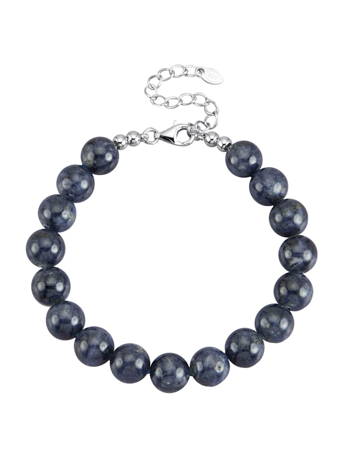 Diemer Farbstein Saphir-Armband in Silber 925, Blau