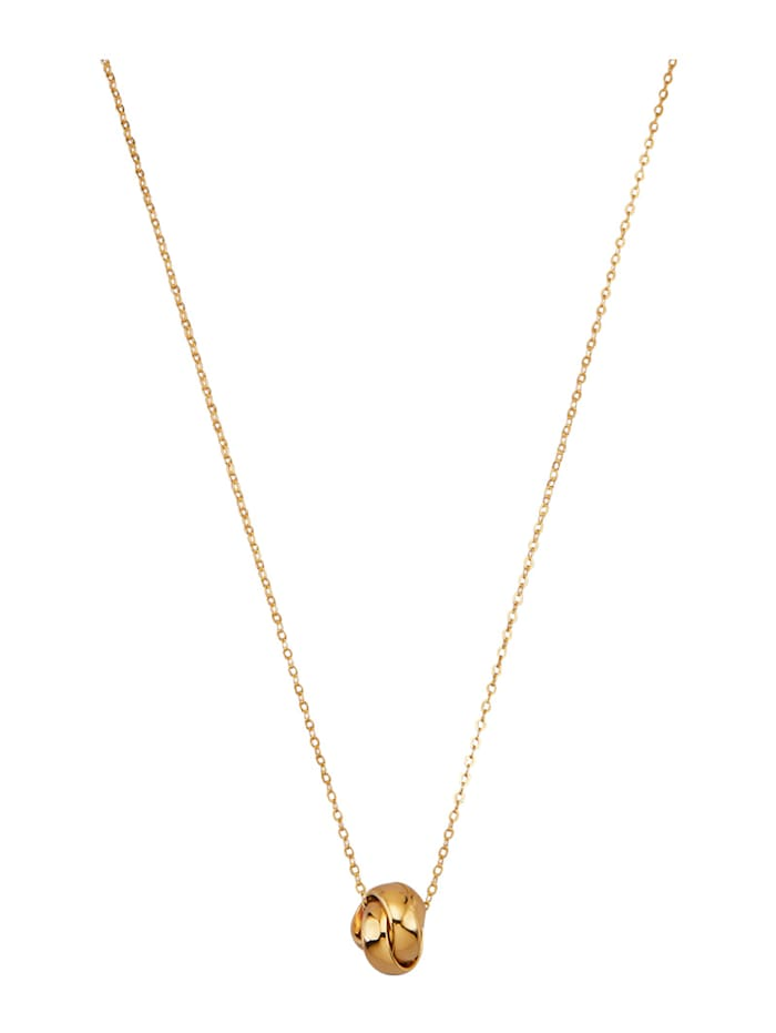Diemer Gold Anhänger mit Kette in Gelbgold 585, Gelbgoldfarben