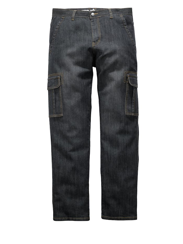 Men Plus Cargojeans, Black stone