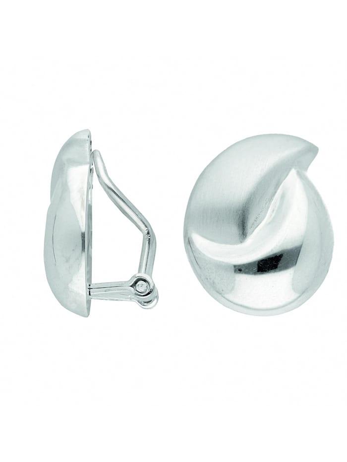 1001 Diamonds Damen Silberschmuck 925 Silber Ohrringe / Ohrclips, silber