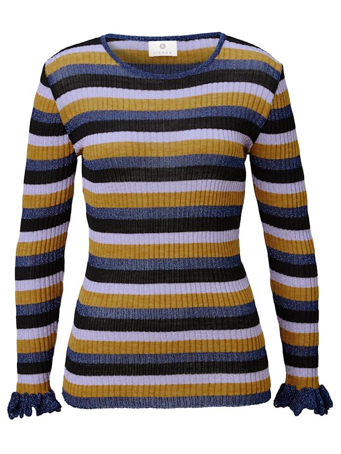 SIENNA Pullover mit Multicolor-Ringel, Multicolor