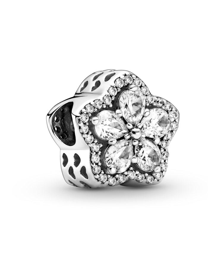 Pandora Charm -funkelnde Schneeflocke 799224C01, Silberfarben