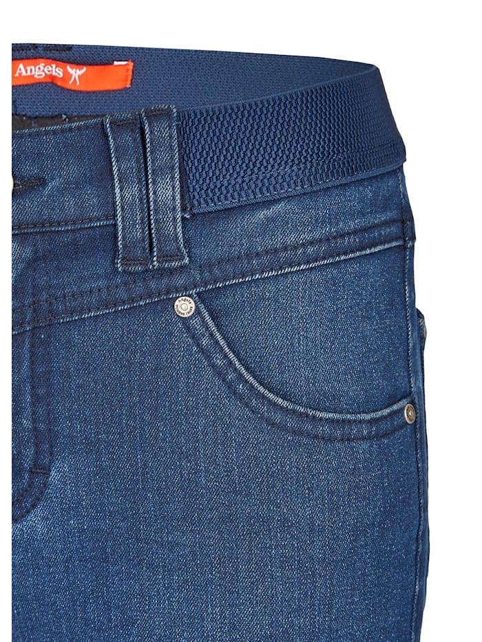 Jeans 'One Size Authentic' mit unifarbenem Stoff
