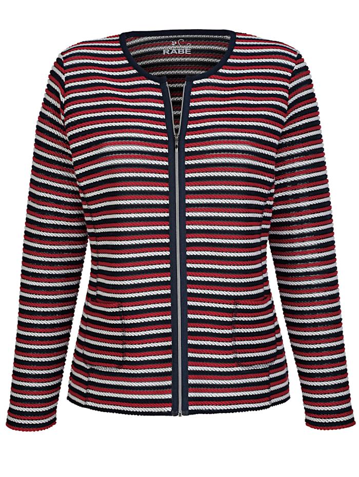 Tričkový kabátik zo štruktúr. tkaniny