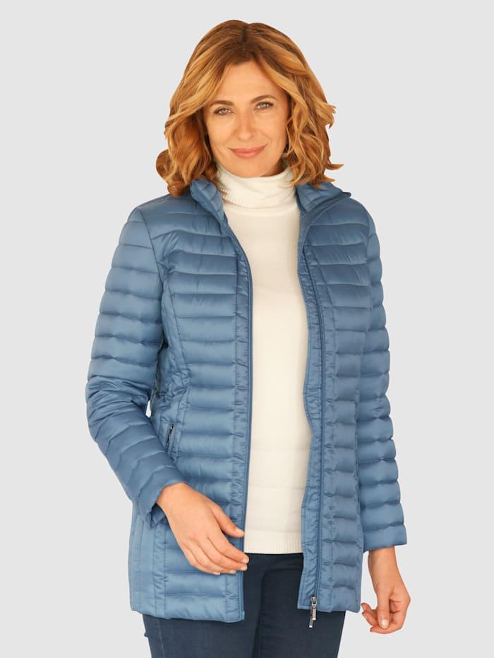 Paola Prešívaná bunda s detailným vypracovaním, Dymová modrá