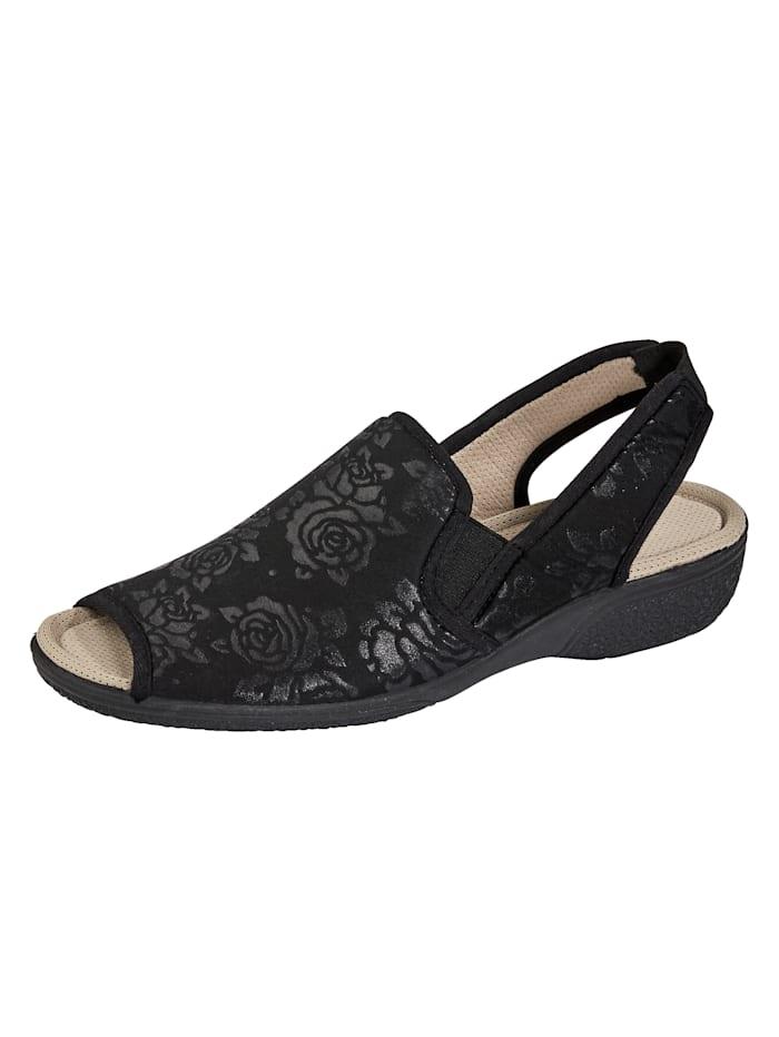 Sandaaltje met elastische inzetten