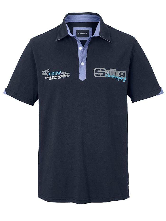 BABISTA Poloshirt aus reiner Baumwolle, Marineblau