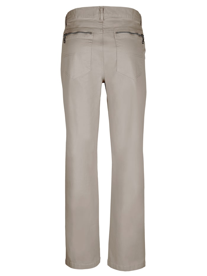5-Pocket Hose mit Reißverschluss-Gesäßtasche
