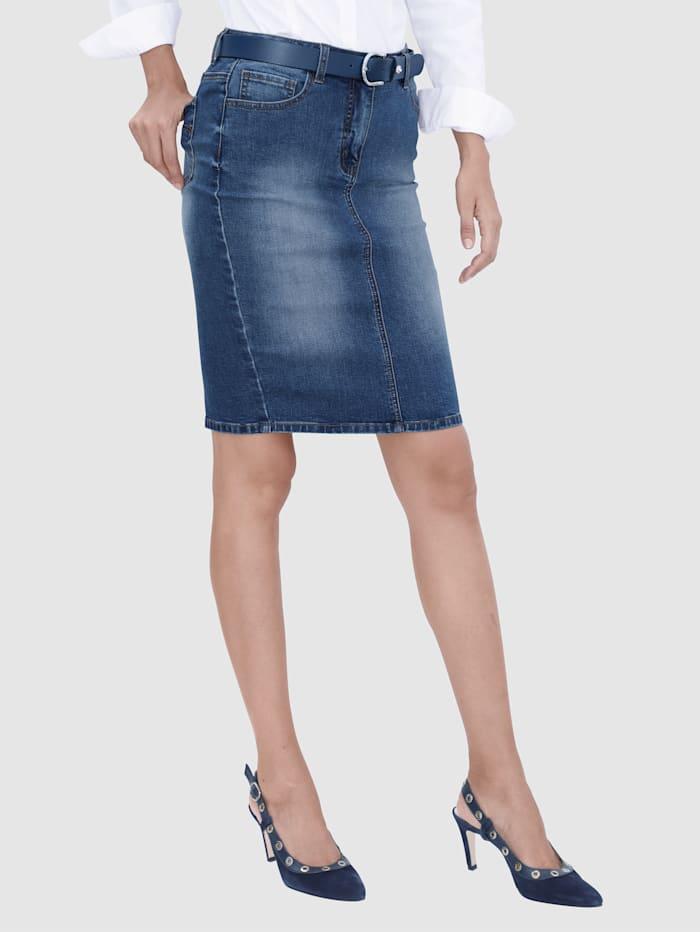 Jeanskjol i 5-ficksmodell