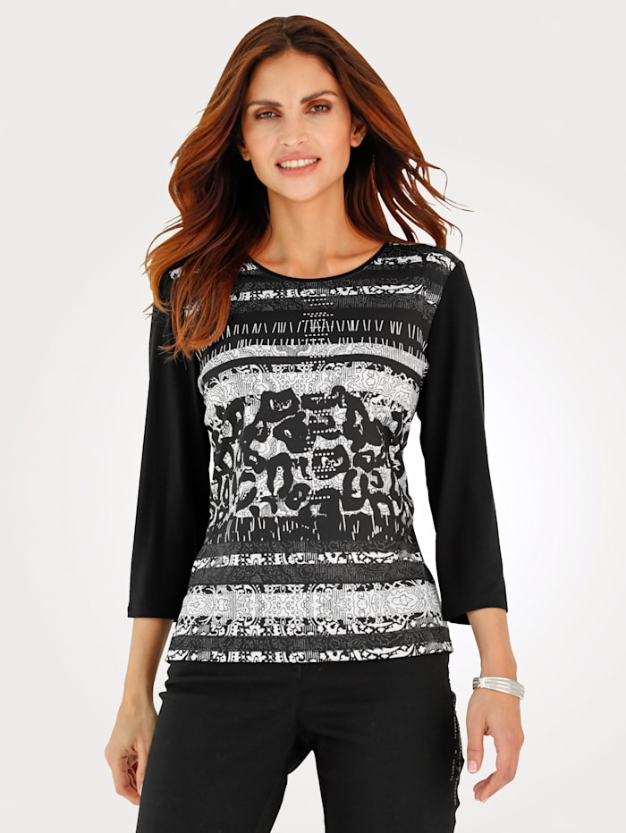 Top with abstract print