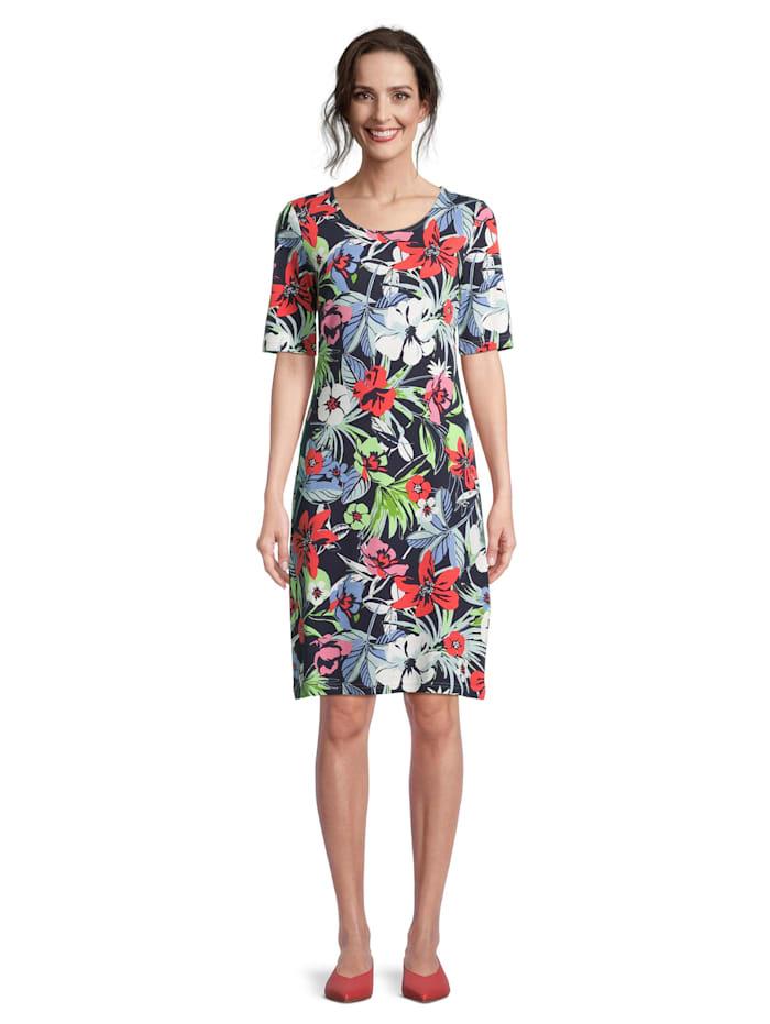 Betty Barclay Jerseykleid mit Blumenprint, Dunkelblau