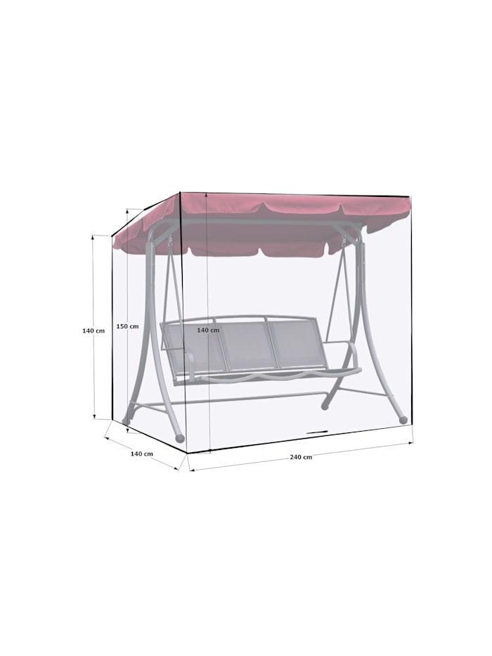 Grasekamp Schutzhülle Gartenschaukel 240x140x145cm  Italia Weiß Schutzhaube Abdeckung  Hollywoodschaukel, Weiß