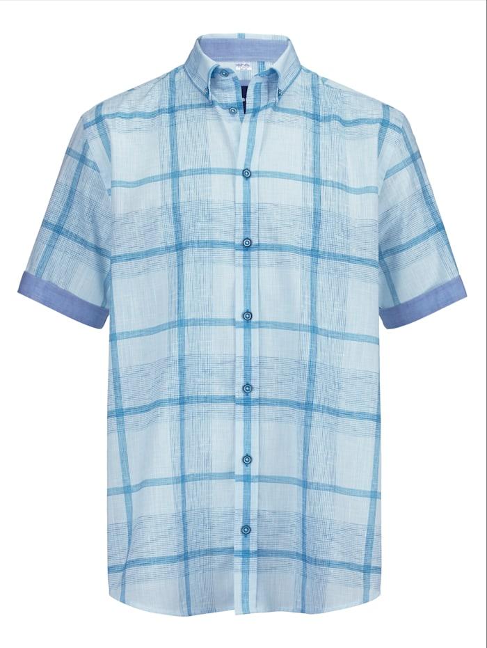 BABISTA Overhemd van zomers lichte stof, Wit/Blauw