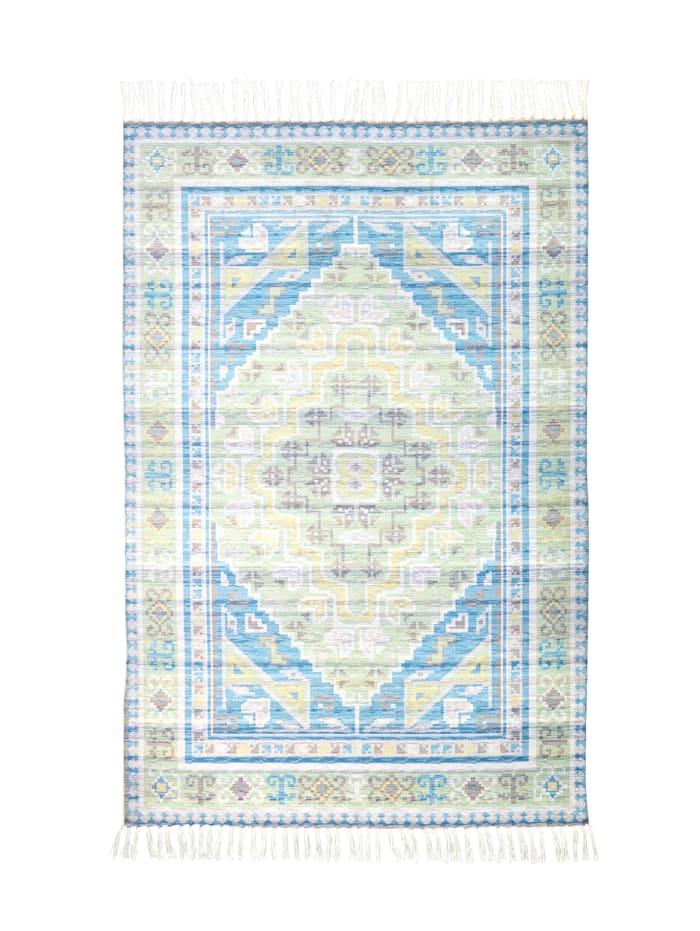 IMPRESSIONEN living Outdoor-Teppich, Blau/Weiß