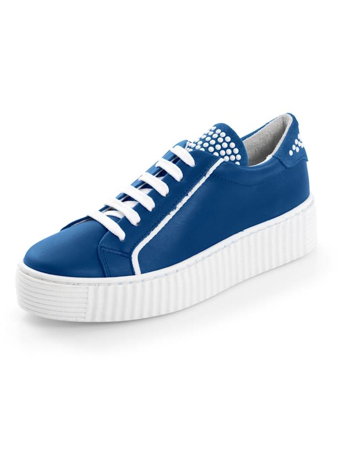Alba Moda Sneaker mit geriffelter Plateausohle, Blau