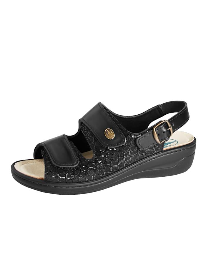 Franken Schuhe Sandaaltje Ideaal bij hallux valgus, Zwart