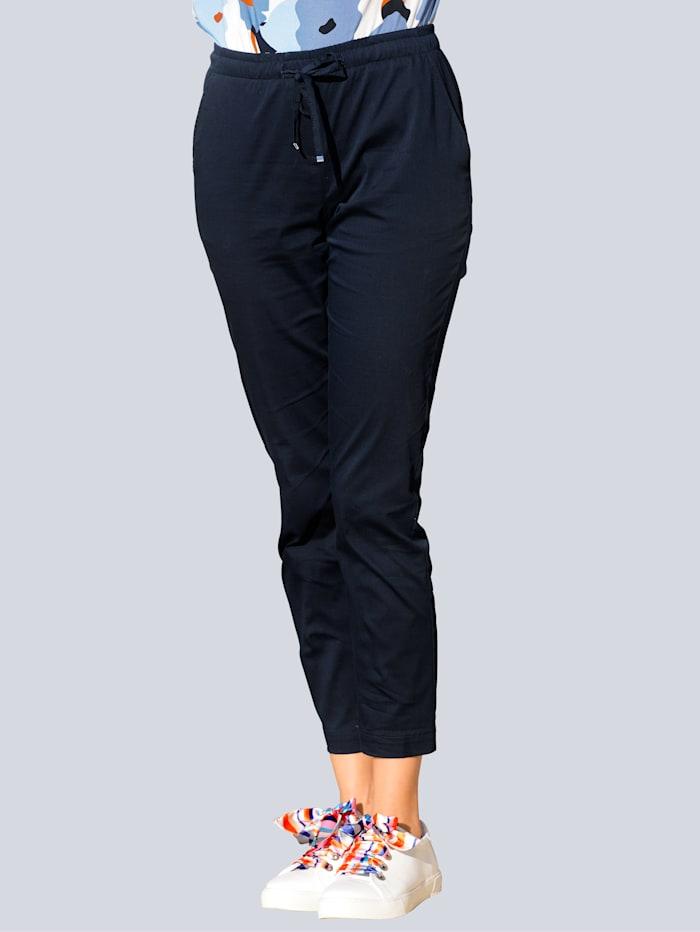 Alba Moda Hose im modischen Jogpants-Style, Marineblau