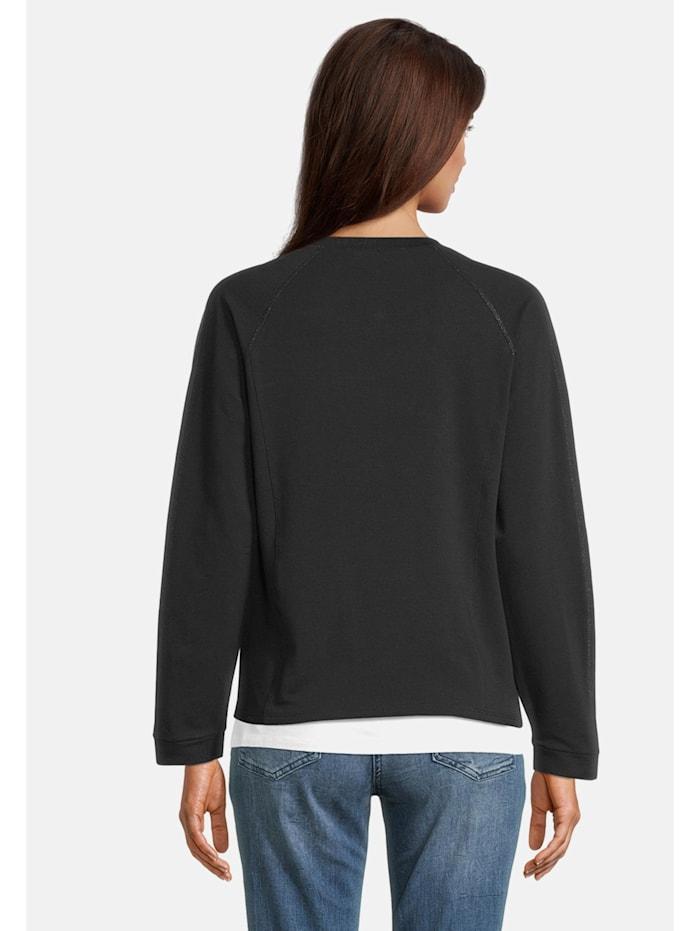Shirtjacke mit Stehkragen