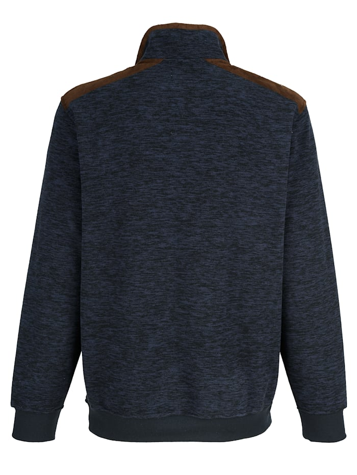 Flísové tričko so vsadkami vo velúrovom vzhľade