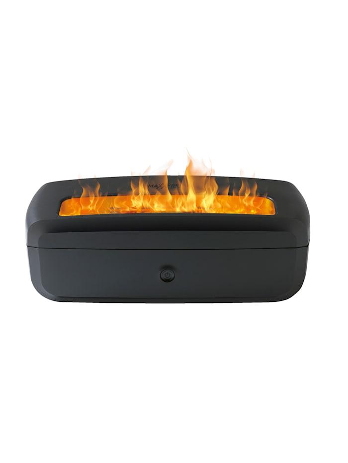 MAXXMEE Elektrisches Deko-Kaminfeuer mit Befeuchtungsfunktion, schwarz