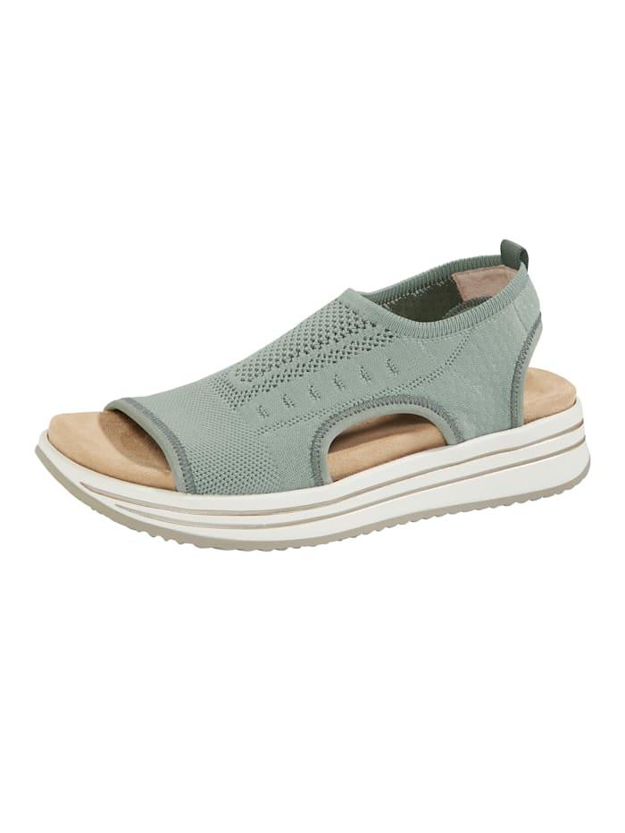 Remonte Sandale welche mit 2 Wechselfußbetten geliefert wird, Oliv