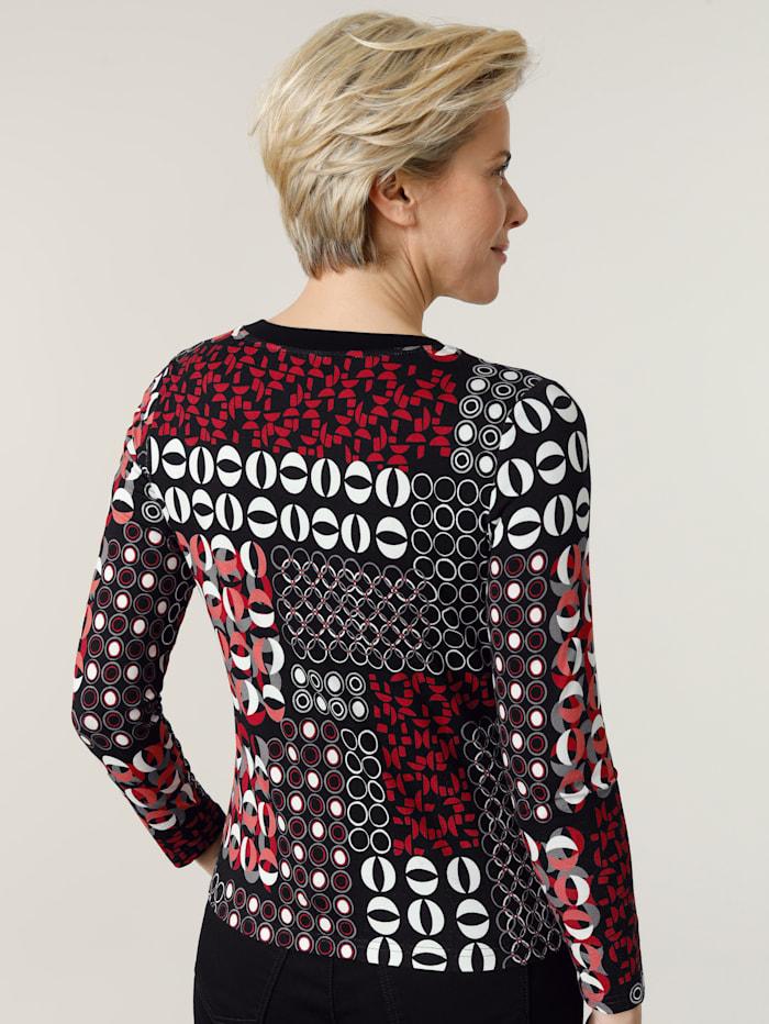 T-shirt à mix de motifs graphiques