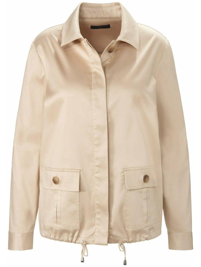 Emilia Lay Jackenblazer Jacke mit Hemdkragen ., sand