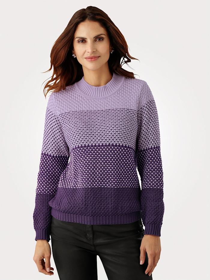 MONA Tröja med breda ränder, Lila/Lavendel
