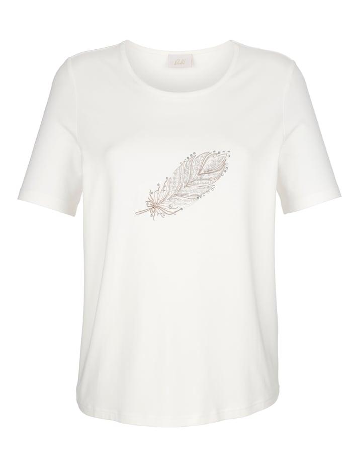 Shirt met veerborduursel