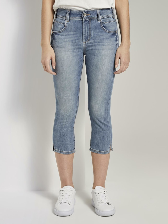 Tom Tailor Kate Slim Capri-Jeans, light stone wash denim