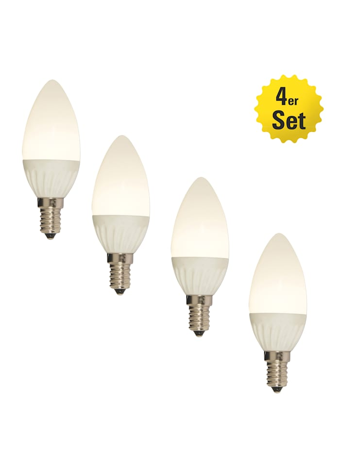 Näve Set van 4 ledlampen E14/4W, warmwit