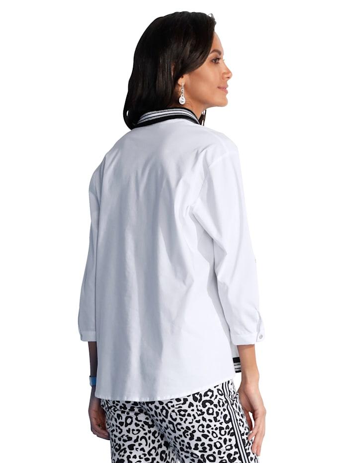 Bluse mit Strickdetailverarbeitung
